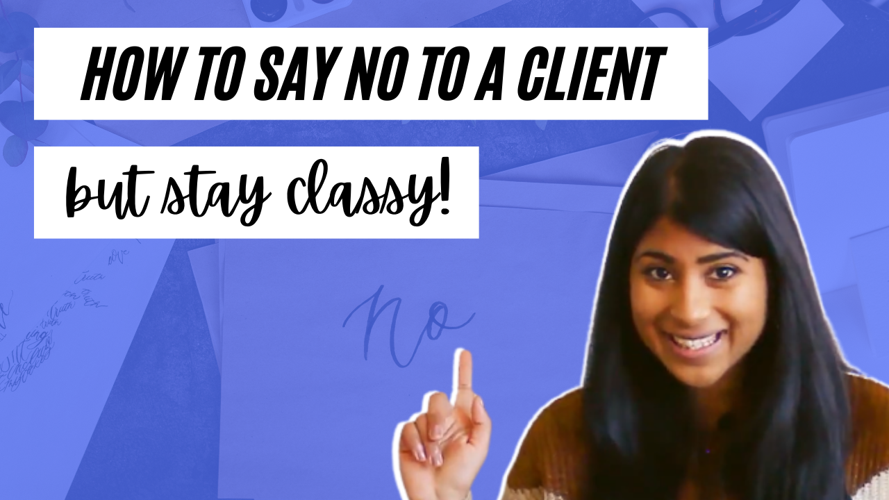 say no to client professionally